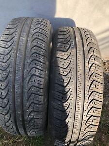 2 pneus été 205 60 15