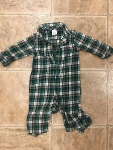 Gymboree baby boys plaid romper size 12-18M