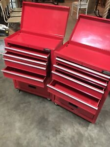 Red Jobmate RolllingTool box with 4 drawers