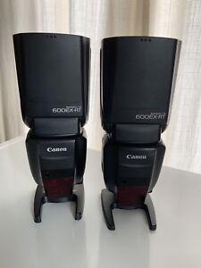 2 flashs canon 600 EX-RT très peu utilisés!! 350$ chaque!
