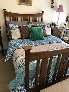 Victorian Slat Double Bed Brookfield Melton Area Preview