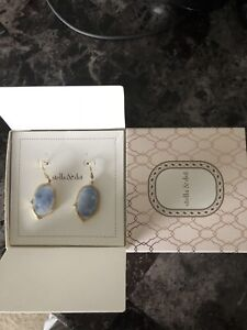 Stella & Dot Charlotte earrings pale blue