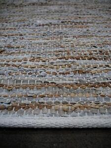 New Strata Grey Recycled Leather Weave Hand Woven Floor Rugs Melbourne CBD Melbourne City Preview
