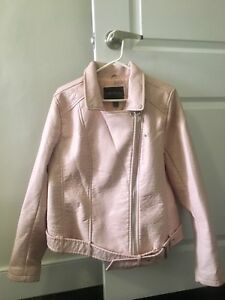 Forever 21 pink leather jacket plus size