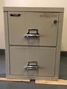 Fire King filing cabinet