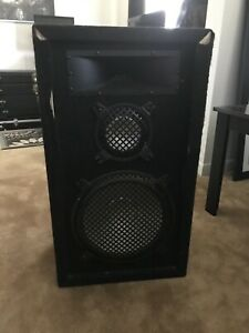 Pair of Speakers with Horn