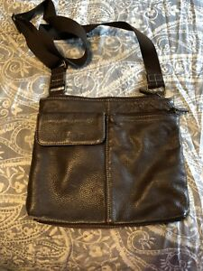 Roots brown leather crossbody