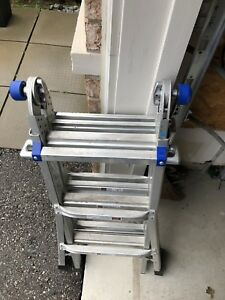 Werner 13 ft Aluminum Telescoping Multi-Position Ladder.