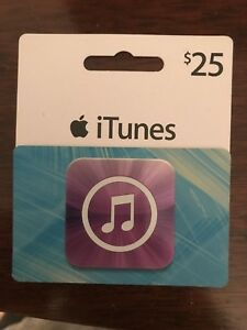 $25 iTunes gift card for $20