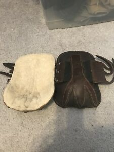 Leather horse boots