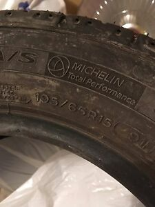 Set of four 195/65/R15 tires