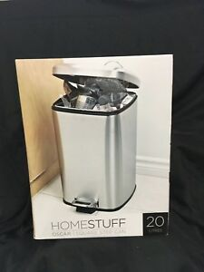 Brand new stainless steel 20 litre step garbage can