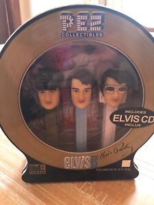Elvis Pez Collectibles Tin with CD