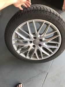 Audi winter tires and rims OEM like new