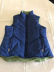 Blue and green reversible vest (Like new)