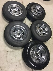 5 x brand new trailer rims and tire package