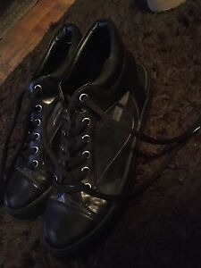Basic black and clear lace up shoes
