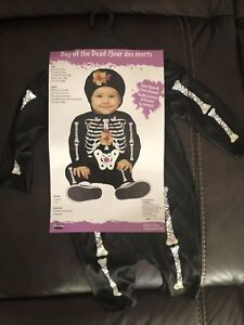 Day of the dead infant costume