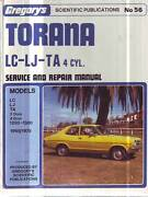 HOLDEN TORANA  4cyl  LC LJ TA******1300 WORKSHOP SERVICE   MANUAL Sefton Bankstown Area Preview