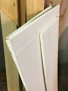 Pieces of drywall, 8 feet and 4 feet long