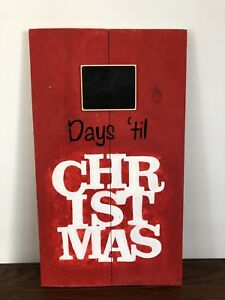 Solid wood Count Down til Christmas Sign