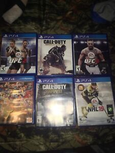 Selling Mint condition ps4 games