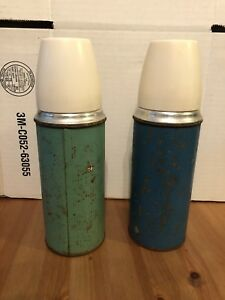 Vintage cork top thermos'