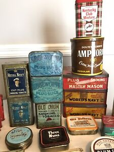 Wow Huge tobacco pipe tin collection
