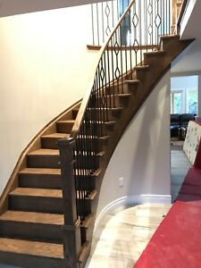 Solid carpentry custom stairs & railing