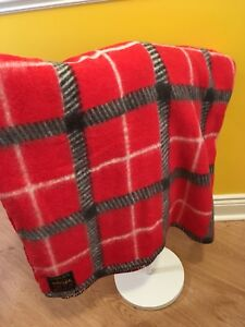 Vintage Wool Blend Throw Blanket Candy Rug Made by Witney