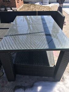Outdoor dining room set 6 chairs