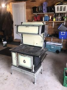 Antique Wood Cook Stove by Record Norfolk