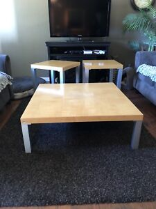 EQ3 coffee table, 2 end tables, a mirror  and a side table
