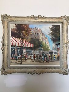 Paris Henry Housier original oil painting