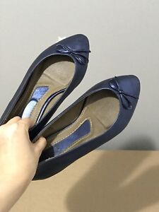Size 6 Blue Flat Shoes