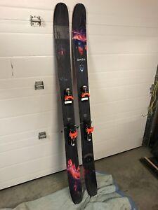 Bent chetler skis with New Look bindings