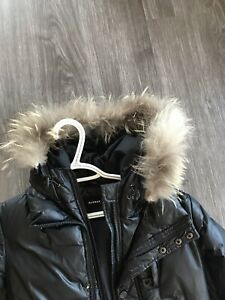 Kid down jacket with real fur for 9-11yrs old boy