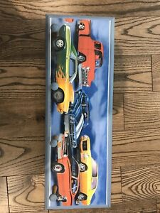 Wooden Hand Painted Car Decorated 4 Peg Post Coat Hanger