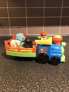 BNWOB Fisher Price A choo-choo at the zoo? Train & Figures