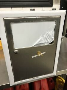 Bobrick stainless in wall garbage cans