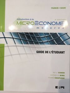 Introduction à la microéconomie moderne 4e éd.