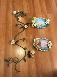 Bradford Exchange Tinkerbell plates & wall mount