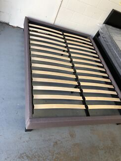 Brand new bed base dark grey color flat pack in boxes easy to pick up