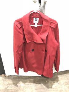 Red GAP pea-coat