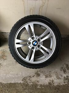 Bmw winter tires and rims  Cambridge Kitchener Area image 2