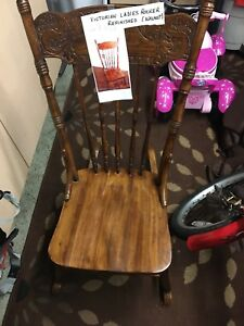 Refinished Walnut Victorian Ladies Rocker