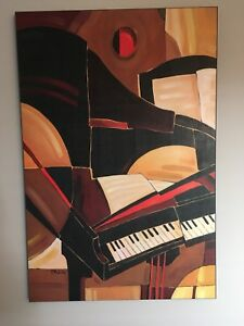 Abstract musical painting