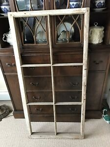 Antique wood window frame
