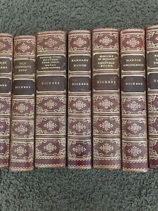 Set of Fireside Dickens antique books