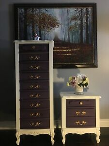 French Provincial Lingerie Chest & Nightstand